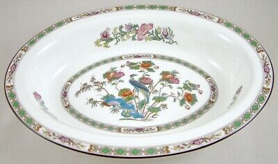 "Wedgwood China Kutani Crane R4464 11"" Open Oval Vegetable Dish 1St Mint!"