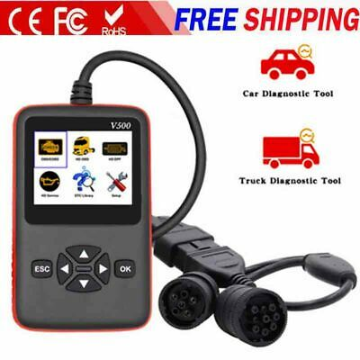 NEW Heavy Duty Truck Scan Tool +OBD2 Vehicle Scanner DPF/Oil Reset Code Reader