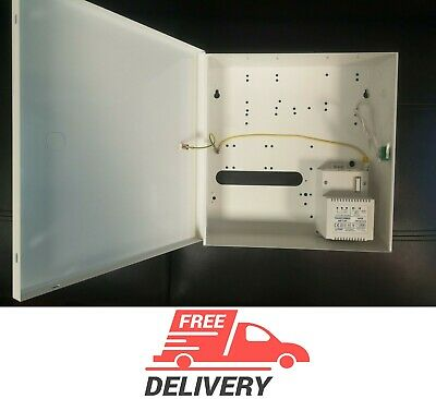 Alarm Security Metal case with power supply 40VA panel mount NEW KIT