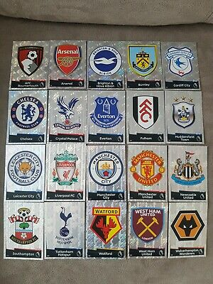 Choose MATCH ATTAX 2018 2019 Topps 18/19 CLUB BADGE / TEAM CREST CARDS SET x20