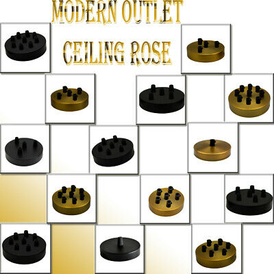 UK Perfect for fabric flex cable Single & Multi Point Drop Outlet Ceiling Rose