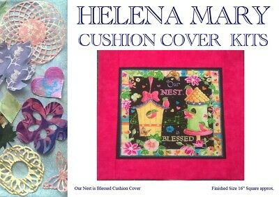 "Patchwork Kit Complete Cushion Cover Kit - Our Nest is Blessed - 16""Sq"