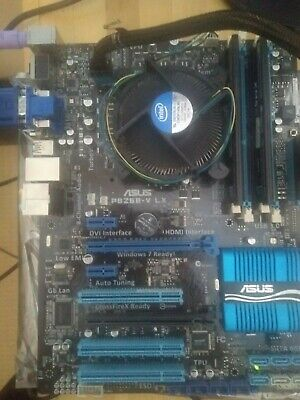 Asus P8Z68V-LX, socket 1155 i7-2600 (3400mhz), 8gb DDR3 RAM with backplate