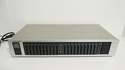 Silver Kenwood Graphic Equalizer Model GE-100 II - 10 Band Per Side DUAL VOLTAGE