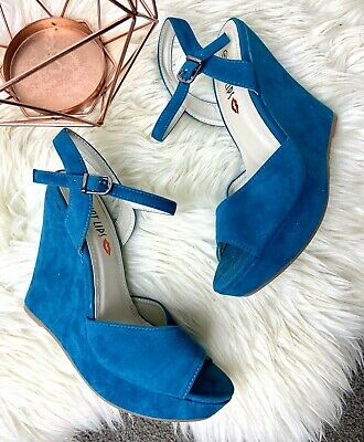 NEW Two Lips Magical Blue Sequin Heels S3972