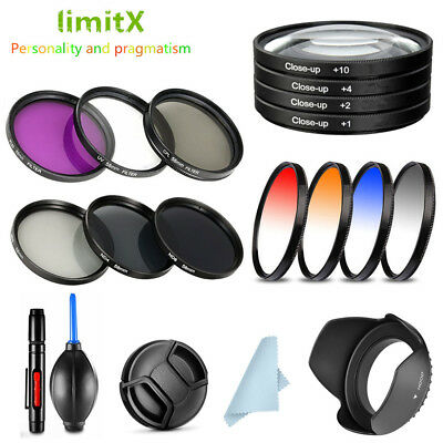 49mm Bundle Filter / Lens hood / Cap / cleaning pen / Blower for Canon Camera