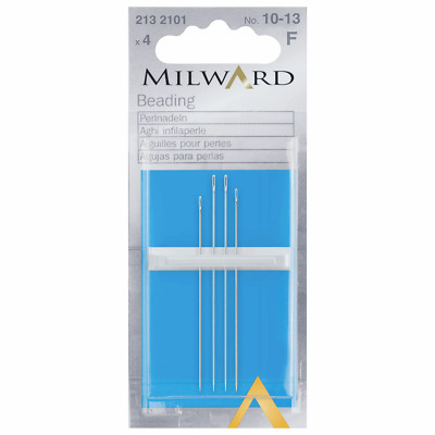 Premium Quality Milward Assorted Beading Hand Sewing Needles 4 Pack