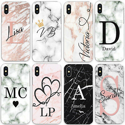 For iPhone 8/7/6/Plus/5s/XS/Max/XR/11 Case Personalised initials Name Designs