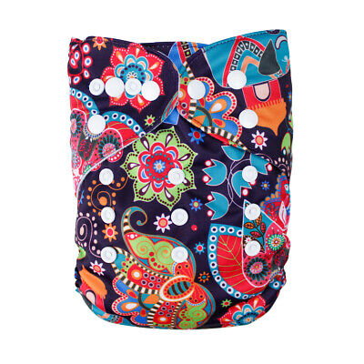 Baby Cloth Diaper Washable Waterproof Adjustable Pocket Nappy & Bamboo insert 18