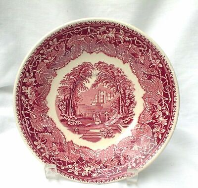 Masons Pink Red Saucer For Joke Cup 7 1/8""
