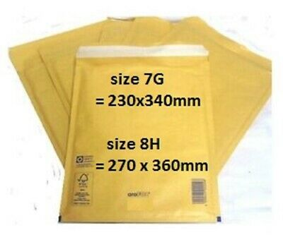 Genuine Arofol Gold Bubble Padded Envelopes Mailers Bags  Sizes 7&8 / Qty's*