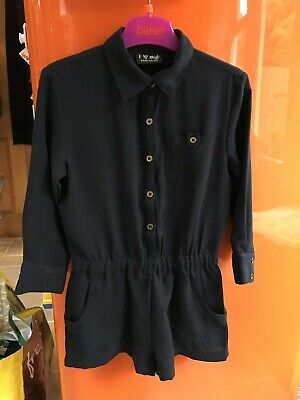 Next Girls Navy Blue Playsuit Size 4 Years Smart Party Worn Once