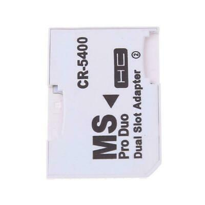 Dual slot Micro SD SDHC TF to MS Memory Stick Adapter Converter CR5400 for K5P2