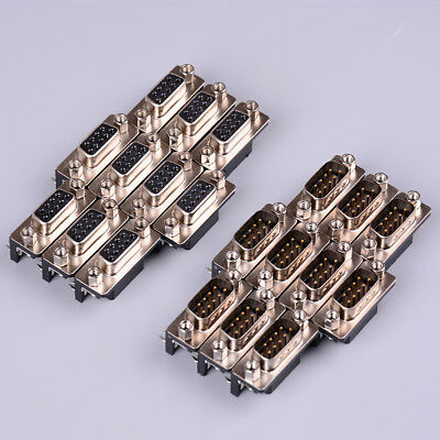 10Pcs/lot DB-9 DB9 male female PCB mount,DR-9S PCB connector,RS232 connector FR