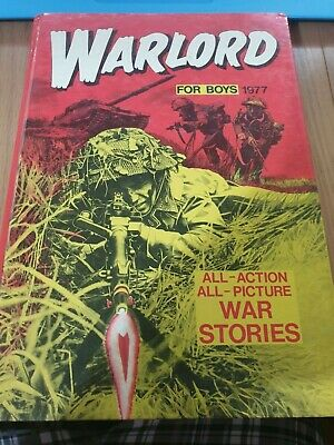 Warlord For Boys - Annual 1977 Hardback Comic Book! Free Uk P&P
