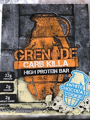 Grenade Killa High Protein Low Carb Bar White Chocolate Cookie, 5 x60g BBE 11.18