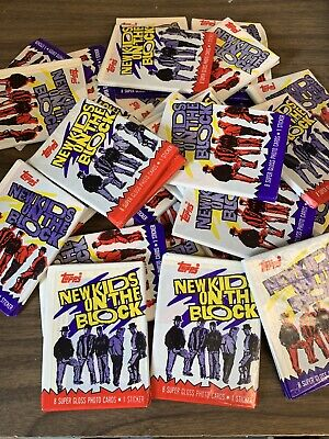 1989 New Kids On The Block Topps Trading Cards Sticker 30 Wax Packs!