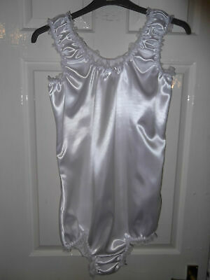 Adult Babys~Maids~Sissy~Unisex Gorgeous Satin All-In-One Body~Teddy With Lace