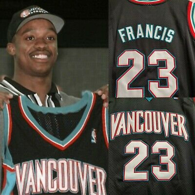 Rare Steve Francis Vancouver Grizzlies Retro Throwback Stitched Toronto Jersey