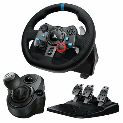 Logitech G29 Driving Force Race Wheel and G Driving Force Shifter Bundle - Black