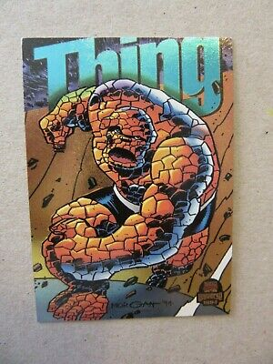 1994 Marvel Universe, Power Blast Chase Card # 9, The Thing, Fleer Trading Card