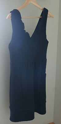 9400666bb21a Anthropologie Maeve V Neck Dress Womens Large Black Pockets Ribbed  Sleeveless