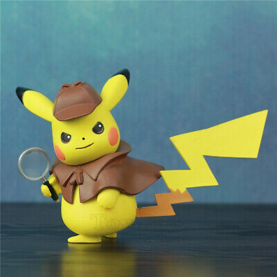 Detective Pikachu Pokemon PVC 13cm Film Figure Toys Kawaii Hero Collection