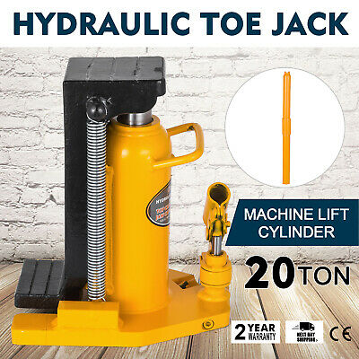 20 Ton Hydraulic Toe Jack Machine Lift Cylinder Welded Steel Tool Industrial