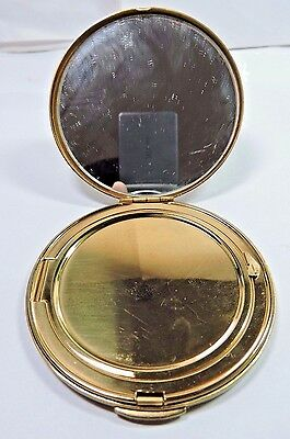 Antique Vintage Mirrored Round Compact Unknown Maker As Is