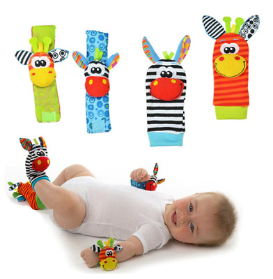 Infant Baby Kids Socks rattle toys Wrist Rattle and Foot Socks 0-24 Months