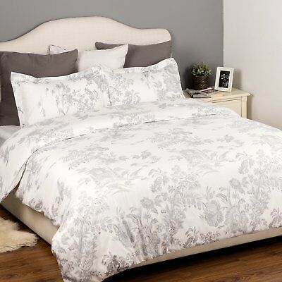 Vintage Shabby Chic Double Size Bedding Set Duvet Quilt Cover With Pillowcases