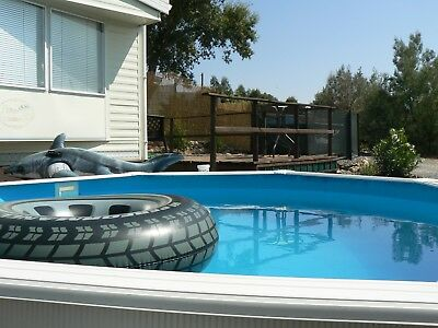Dream Mobile home,  own pool on small, friendly,UK site in Rural Sunny Portugal