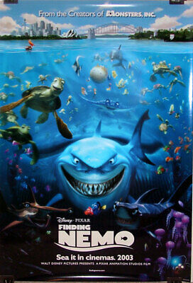 FINDING NEMO orig DS movie poster Disney Pixar AUTHENTIC '03 one sheet Dory