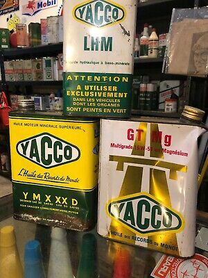 Yacco X 3 French Oil Cans Vintage