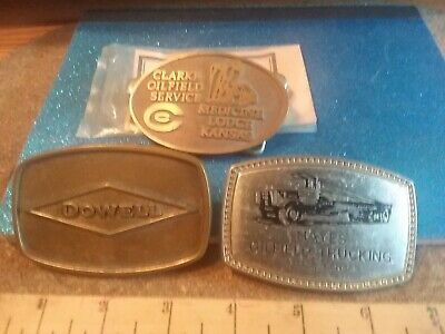 Vintage Oilfield Belt buckles Lot Of 3