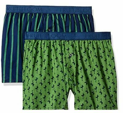Fruit of the Loom Men's Cotton Boxer 4 Pack 100% Cotton