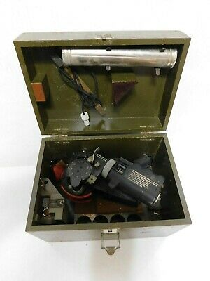 Vtg WWII A-8 Bausch&Lomb Military Aircraft Sextant Navy Airforce Wood Case