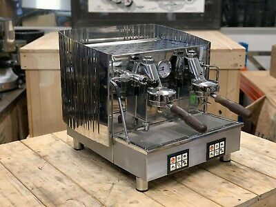 Fiorenzato Ducale 2 Group Compact Stainless Espresso Coffee Machine Restaurant