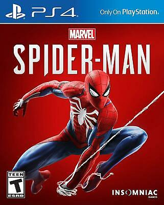 Marvel Spider-Man PS4 (Sony PlayStation 4, 2018) - Brand New - Region Free