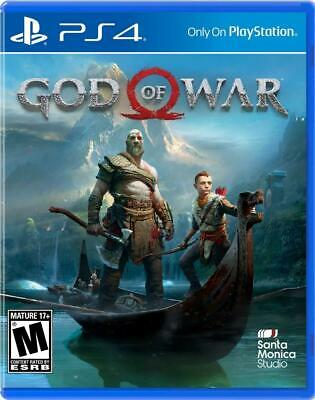 God of War PS4 (Sony PlayStation 4, 2018) - Brand New - Region Free