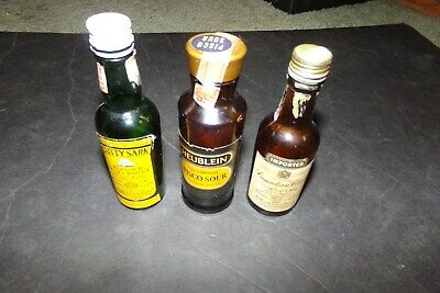 Lot 3 Braniff  Airlines Liquor Bottles Whisky Heublein Pisco Sour Cutty Sark
