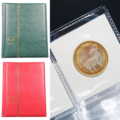 10 Pages Coin Stock Book 120 Pocket Album For 2x2 Paper Flip Holders Storage Lot