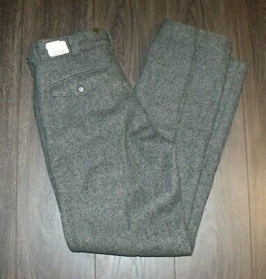 VTG LL Bean Heavy Wool Blend Pants SIZE 32 Made in USA Grey