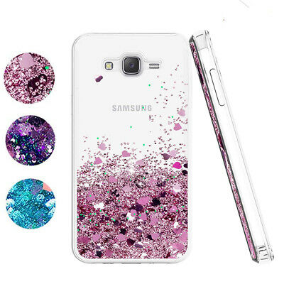 For Samsung Galaxy J5 J7 J8 Prime Case Glitter Liquid Quicksand Clear Soft Cover