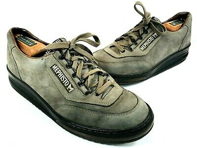 84feb068e2 Mephisto Air-Jet Runoff System Gray Nubuck Suede Shoes Sz Eur 8 US 8.5