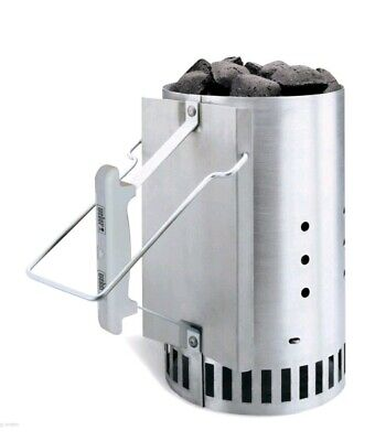 Chimney Starter Rapidfire Weber Bbq Charcoal Grill Fire Camping New Lighter 7416