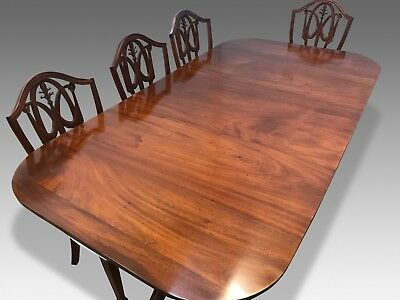 Amazing Antique George Iii Cuban Mahogany Table Professionally French Polished