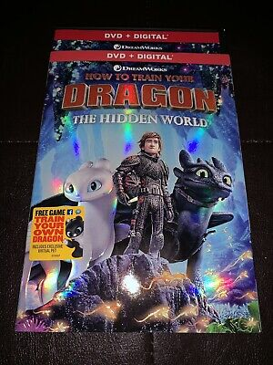 Brand New How to Train Your Dragon The Hidden World DVD + Digital 2019