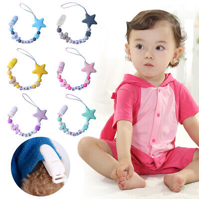 Infant Pacifier Chain Silicone Clip Anti-chain Star Koala Modeling Baby Supplies