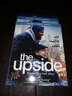 Brand New The Upside Blu-ray + DVD + Digital 2019 Kevin Hart, Bryan Cranston